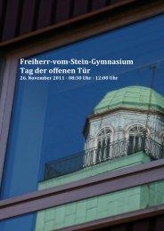 Freiherr-vom-Stein-Gymnasium Tag der offenen Tür