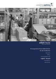 Fachbereich Logistik / Versand - Consilia Optima