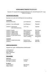 Verksamhetsberättelse 2010 - Bygdegårdarnas Riksförbund