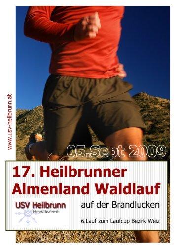 Flyer Heilbrunner Almenland Waldlauf 2009 - USV Heilbrunn