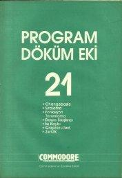 Commodore PDE - Sayi 21 (Kasim 1987).pdf - Retro Dergi