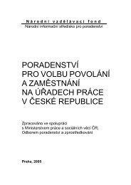 Poradenství pro volbu povolání a zaměstnání na úřadech práce v ČR