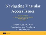 Navigating Vascular Access Issues - Oley Foundation