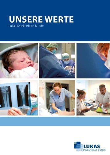 """Imagebroschüre """"Unsere Werte"""" - Lukas-Krankenhaus Bünde"""