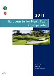 European Senior Men's Team Championship - European Golf ...