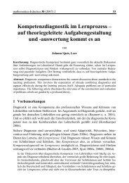 Kompetenzdiagnostik im Lernprozess - mathematica didactica