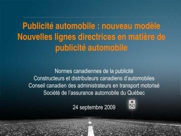 Publicité automobile - Advertising Standards Canada
