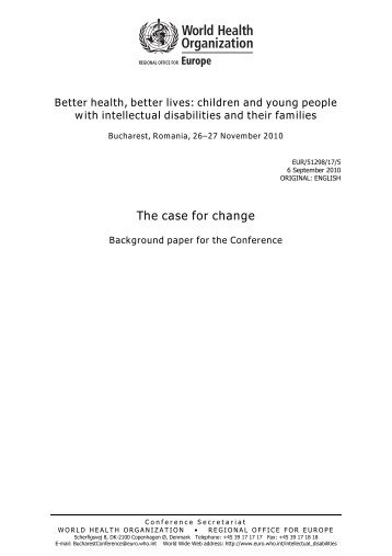 Better health, better lives: children and young people with ...