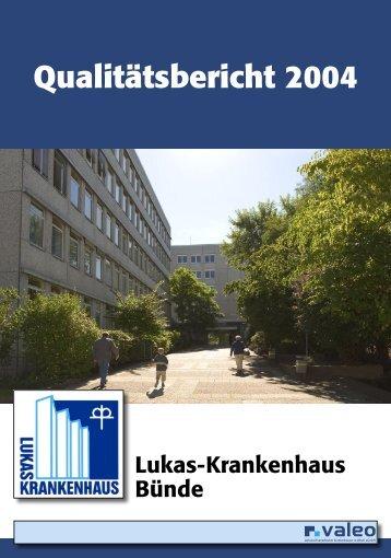 Qualitätsbericht 2004 - Lukas-Krankenhaus Bünde