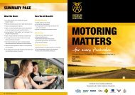 SUMMARY PAGE What We Want: · All of - Australian Automobile ...