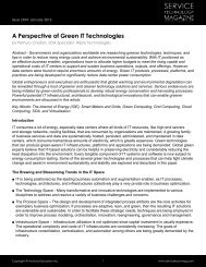 A Perspective of Green IT Technologies - Service Technology ...