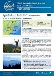 Appalachian Trail Walk - Hotel (Tour code: PNH) - Adventure holidays