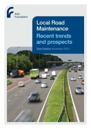 Local Road Maintenance Recent trends and ... - RAC Foundation