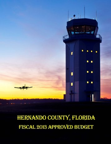 FY 2013 Approved Budget - Hernando County