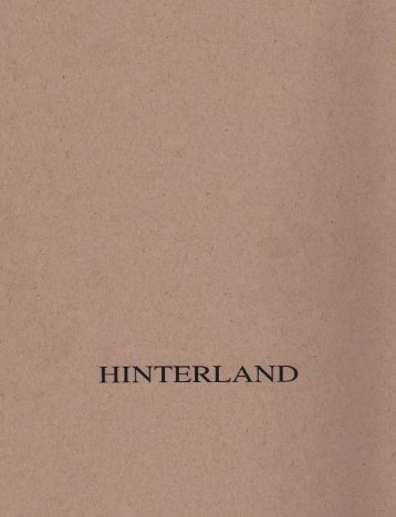 HINTERLAND 2004 REPRINT.indd - The Center for Land Use ...