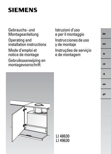LI 48630 LI 49630 Gebrauchs- und Montageanleitung Operating ...