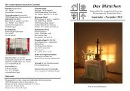 September – November 2012 - Ev.-luth. Kirchengemeinde ...