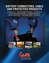 battery connectors, cable and protective products - Grote Industries