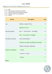 Score ABCDD A = age B = blood pressure (pression ... - CMUB