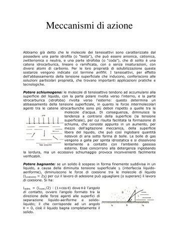 Meccanismi di azione - Dipartimento di Chimica