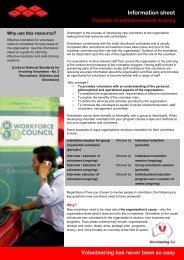 Volunteer orientation and skills trainin - Volunteering Qld