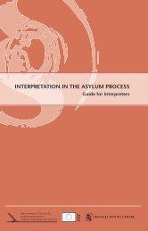 INTERPRETATION IN THE ASYLUM PROCESS