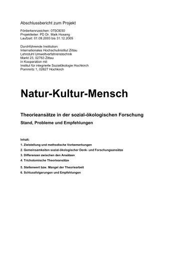 Abschlussbericht zum Projekt Natur-Kultur-Mensch