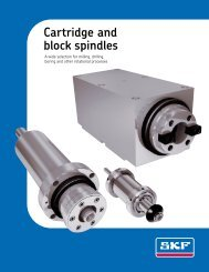 Cartridge and block spindles - Rowe Sales & Service Inc.