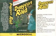 Dungeon Raid (Microdeal).pdf - TRS-80 Color Computer Archive