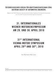 31. INTERNATIONAlES WIENER MOTORENSYMpOSIUM AM 29 ...