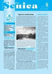 august 2003 8číslo - Mesto Senica