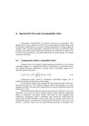 4. Spectrul de frecvenţe al semnalului video