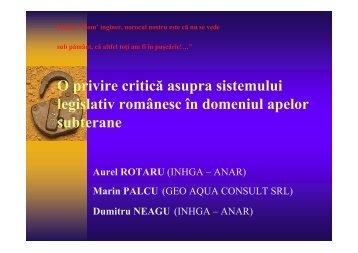 O privire critica asupra sistemului legislativ ... - aquaprotect.ro