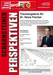 Traumergebnis für Dr. Heinz Fischer - SPÖ Scharnstein