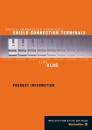 KLBÜ SHIELD CONNECTION TERMINALS - Wexøe.dk