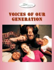 Voices of Our Generation Keynotes:Layout 1.qxd - State Theatre