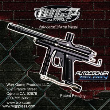 Autococker® Marker Manual - Paintball Manuals