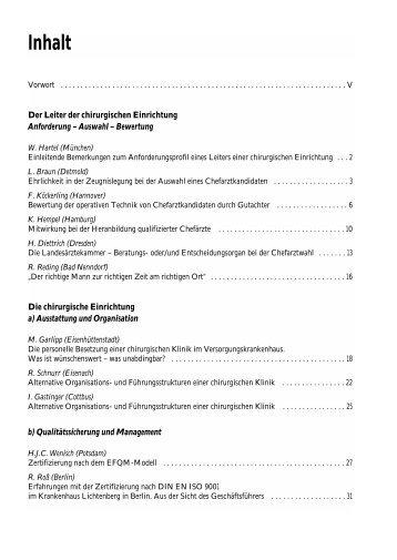 Inhalt - Dr. R. Kaden Verlag