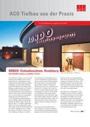 RONDO: Einkaufszentrum, Rendsburg - ACO Tiefbau