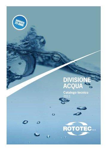 Catalogo tecnico serbatoi acqua ROTOTEC - Frigerio & Co