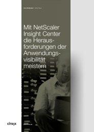 Mit NetScaler Insight Center die Heraus- forderungen der ...