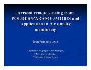 Aerosol remote sensing from POLDER/PARASOL/MODIS and ...