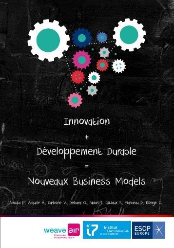Innovation + Développement Durable = Nouveaux Business Models