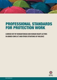 Professional Standards for Protection Work carried out by ...