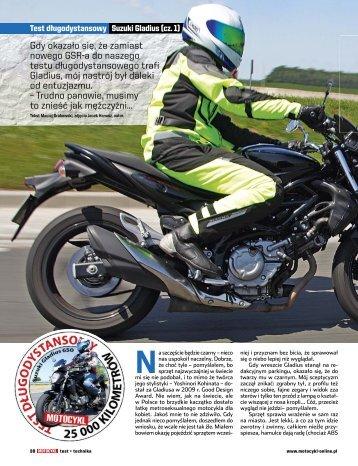 Test długodystansowy Suzuki Gladius