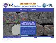 Explore Mercury Orbital Data - MESSENGER :: ACT-REACT Quick ...