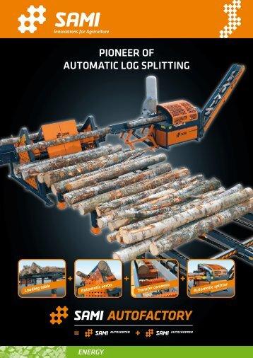 Pioneer of automatic log sPlitting - Landbruksteknikk