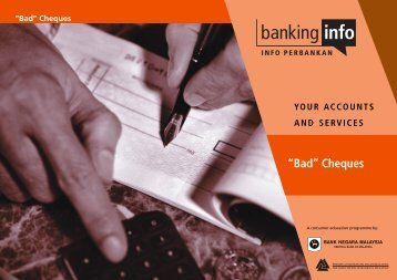 Bad Cheques - Banking Info