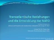 Transatlantische Beziehungen und die Entwicklung der NATO