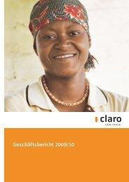 pdf Geschäftsbericht 09/10 - claro fair trade AG